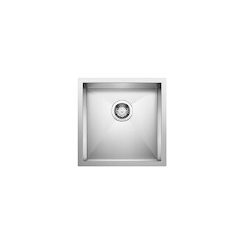 QUATRUS UNDERMOUNT BAR SINK, Stainless Steel, large