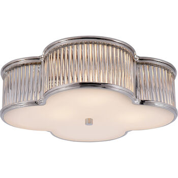 ALEXA HAMPTON BASIL 17-INCH FLUSH MOUNT, Polished Nickel, large