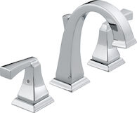 DRYDEN TWO HANDLE WIDESPREAD LAVATORY FAUCET, Chrome, medium