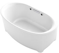 UNDERSCORE® OVAL 60 X 36 INCHES FREESTANDING BUBBLEMASSAGE™ AIR BATHTUB, White, medium