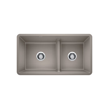 PRECIS UNDERMOUNT 1.75 LOW DIVIDE SINK, Truffle, large
