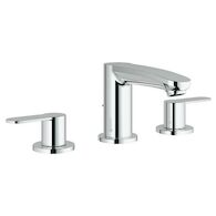 EUROSTYLE COSMOPOLITAN WIDESPREAD BATHROOM FAUCET, StarLight Chrome, medium