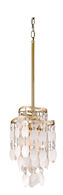 DOLCE 1-LIGHT PENDANT, Champagne Leaf, medium