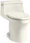SAN SOUCI® COMFORT HEIGHT® ONE-PIECE COMPACT ELONGATED 1.28 GPF TOILET WITH AQUAPISTON® FLUSHING TECHNOLOGY, Biscuit, small