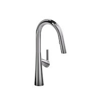 LUDIK KITCHEN FAUCET WITH 2-JET BOOMERANG HAND SPRAY SYSTEM, Chrome, medium