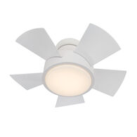 VOX 26-INCH 2700K LED FLUSH MOUNT CEILING FAN, Matte White, medium
