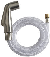 KITCHEN FAUCET SIDE SPRAY WITH HOSE, Vibrant Brushed Nickel, medium