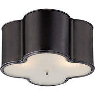 ALEXA HAMPTON BASIL 3-LIGHT 24-INCH FLUSH MOUNT LIGHT, Gun Metal, medium