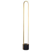 CORTINA 37W 3000K LED FLOOR LAMP, Brushed Brass and Black, medium