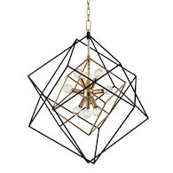 ROUNDOUT 9-LIGHT PENDANT, 1222, Aged Brass, medium