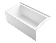 UNDERSCORE® 60 X 32 INCHES ALCOVE BATHTUB WITH INTEGRAL APRON AND INTEGRAL FLANGE ANF RIGHT-HAND DRAIN, White, medium