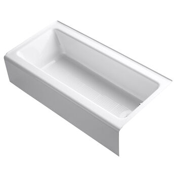 BELLWETHER® 60 X 30 INCHES ALCOVE BATHTUB WITH INTEGRAL APRON, RIGHT-HAND DRAIN, White, large