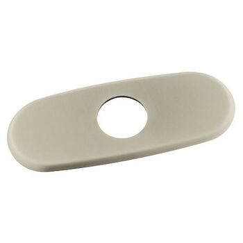 6-INCH ESCUTCHEON PLATE, Brushed Nickel, large