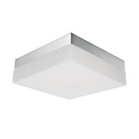 9-INCH SQUARE FLUSH MOUNT LIGHT, Chrome, medium