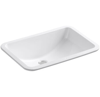 LADENA® 20-7/8 X 14-3/8 X 8-1/8 INCHES UNDERMOUNT BATHROOM SINK WITH GLAZED UNDERSIDE, White, large
