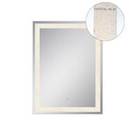 24X32-INCH RECTANGULAR BACK-LIT MIRROR WITH 3000K LED LIGHT AND TOUCH SENSOR SWITCH, 33824, Silver, medium