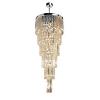 EL DORADO 17-LIGHT CHANDELIER, Chrome, medium