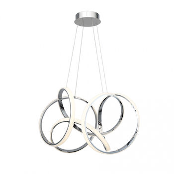 VORNADO 29-INCH LED PENDANT CHANDELIER 3000K, Chrome, large