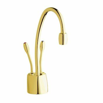 INDULGE CONTEMPORARY HOT/COOL FAUCET, French Gold, large