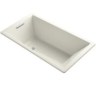 UNDERSCORE® RECTANGLE 66 X 36 INCHES DROP IN BATHTUB WITH END DRAIN, Biscuit, medium