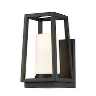 HURRICANE 10-INCH LED OUTDOOR WALL SCONCE 3000K, Black, medium