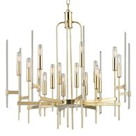 BARI 16-LIGHT CHANDELIER, 9916, Aged Brass, medium