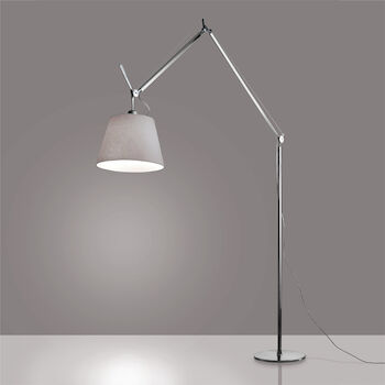 TOLOMEO MEGA LED FLOOR LAMP WITH 17-INCH DIFFUSER, Aluminum/Fiber, large