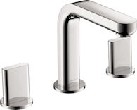 METRIS S WIDESPREAD FAUCET WITH FULL HANDLES, Chrome, medium