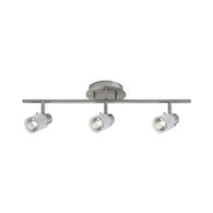 GATWICK 3-LIGHT HALOGEN FIXED TRACK LIGHT, Brushed Nickel, medium