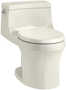 SAN SOUCI® ONE-PIECE ROUND-FRONT 1.28 GPF TOILET WITH AQUAPISTON® FLUSHING TECHNOLOGY, Biscuit, small