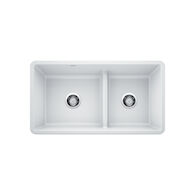 PRECIS UNDERMOUNT 1.75 LOW DIVIDE SINK, White, medium