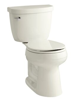 CIMARRON® COMFORT HEIGHT® TWO-PIECE ROUND-FRONT 1.28 GPF TOILET WITH AQUAPISTON® FLUSHING TECHNOLOGY, Biscuit, large