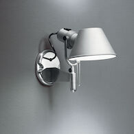 TOLOMEO CLASSIC LED WALL SPOT LIGHT WITH SWITCH, Aluminum, medium
