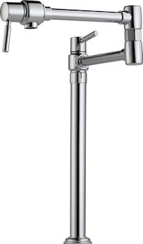 EURO DECK MOUNT POT FILLER FAUCET, Chrome, large
