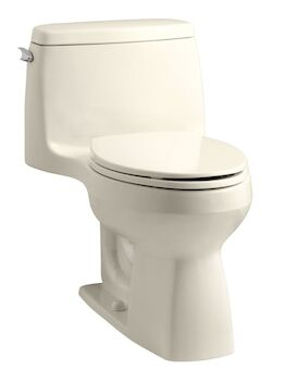 SANTA ROSA™ COMFORT HEIGHT® ONE-PIECE COMPACT ELONGATED 1.6 GPF TOILET WITH AQUAPISTON® FLUSH TECHNOLOGY, Almond, large