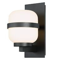 GAIA 12-INCH LED OUTDOOR WALL SCONCE 3000K, Black, medium