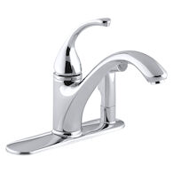 FORTÉ® 3-HOLE KITCHEN SINK FAUCET WITH 9-1/16-INCH SPOUT WITH MATCHING FINISH SIDESPRAY IN ESCUTCHEON, Polished Chrome, medium