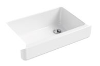 WHITEHAVEN® SELF-TRIMMING® 32-1/2 X 21-9/16 X 9-5/8 INCHES UNDER-MOUNT SINGLE-BOWL SINK WITH SHORT APRON, White, medium