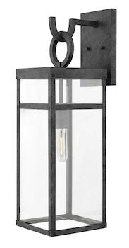 PORTER LARGE WALL MOUNT LANTERN, Aged Zinc, large