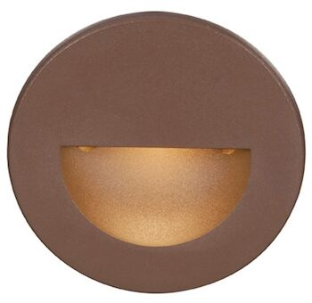 LEDme® ROUND STEP AND WALL LIGHT, Bronze, large