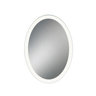 25X35-INCH OVAL EDGELIT MIRROR WITH 3000K LED LIGHT AND TOUCH SENSOR SWITCH, 31483, Silver, medium