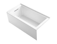 UNDERSCORE® 60 X 30 INCHES ALCOVE BATHTUB WITH INTEGRAL APRON, INTEGRAL FLANGE AND LEFT-HAND DRAIN, White, medium