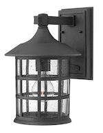 FREEPORT MEDIUM WALL MOUNT LANTERN, Black, medium