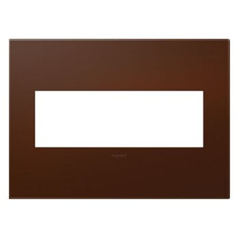 ADORNE 3-GANG PLASTIC WALL PLATE, Soft Touch Russet, large