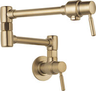 EURO WALL MOUNT POT FILLER FAUCET, Brilliance Luxe Gold, medium