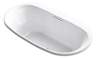 UNDERSCORE® OVAL 66 X 36 INCHES DROP IN BATHTUB, White, medium
