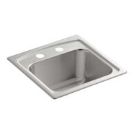 TOCCATA™ 15 X 15 X 7-11/16 INCHES TOP-MOUNT BAR SINK WITH 2 FAUCET HOLES, Stainless Steel, medium