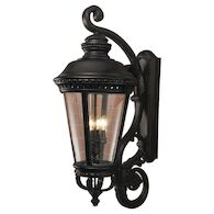 CASTLE 4-LIGHT WALL LANTERN, BIG, Black, medium