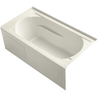 DEVONSHIRE® 60 X 32 INCHES ALCOVE BATHTUB WITH INTEGRAL APRON AND INTEGRAL FLANGE, RIGHT-HAND DRAIN, Biscuit, medium