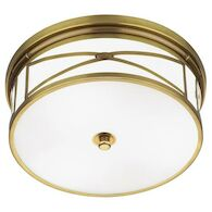 CHASE FLUSH MOUNT, Antique Brass, medium